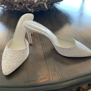 BCBG white slip on Pumps